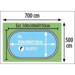 Πισίνα Madagascar 500x300x150CM