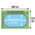 Πισίνα Madagascar 600x320x150CM